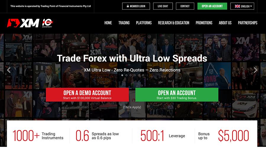 XM Homepage