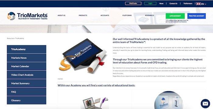 Triomarkets education